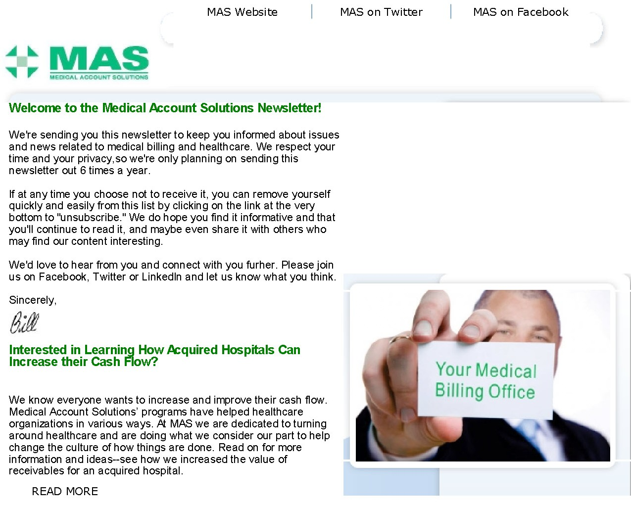 Your Medical Billing Office Newsletter Preview